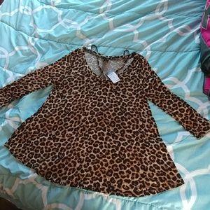 Cheetah Print Rue 21 Shirt NWT